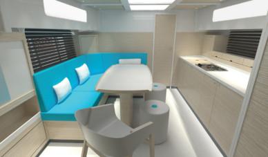 Wnętrze jachtu - Jan Buczek - Noodi Design